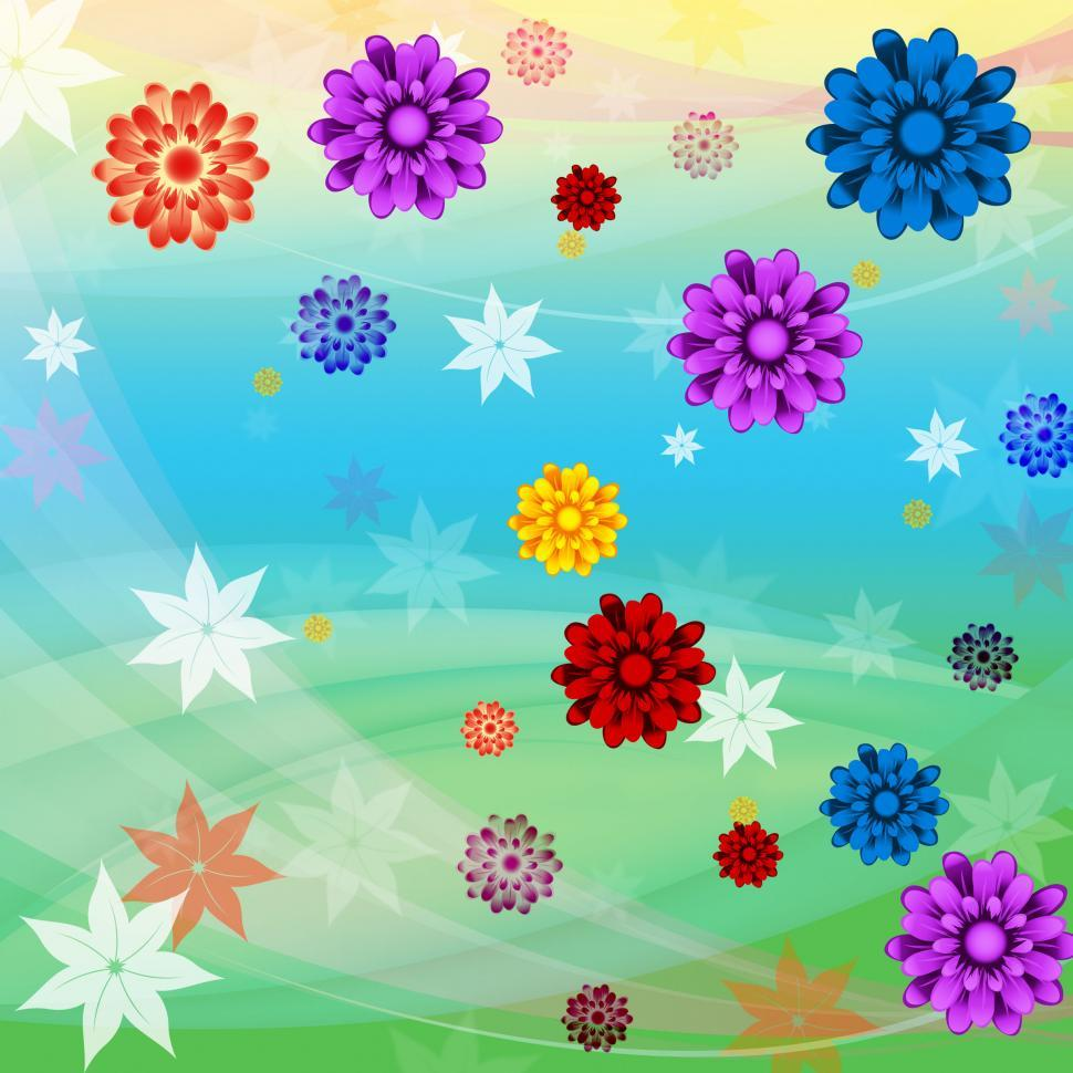 Download Free Stock HD Photo of Colorful Flowers Background Means Floral Growth And Beach  Online