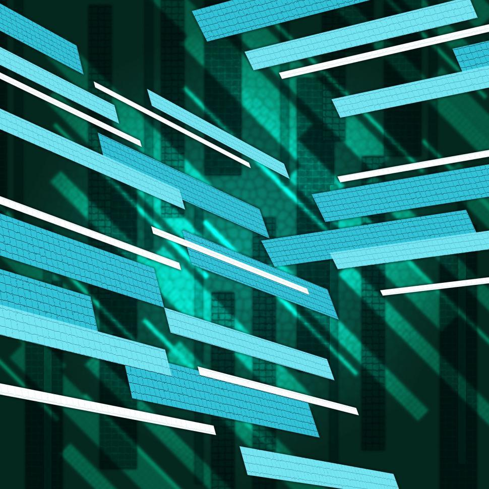 Download Free Stock HD Photo of Green Rectangles Background Means Floating Shapes Pattern  Online