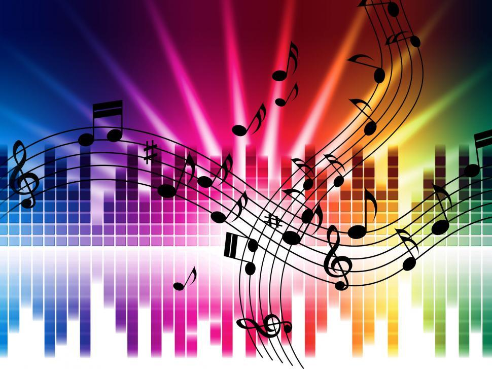 Download Free Stock HD Photo of Music Colors Background Means Singing Playing Or Disco  Online