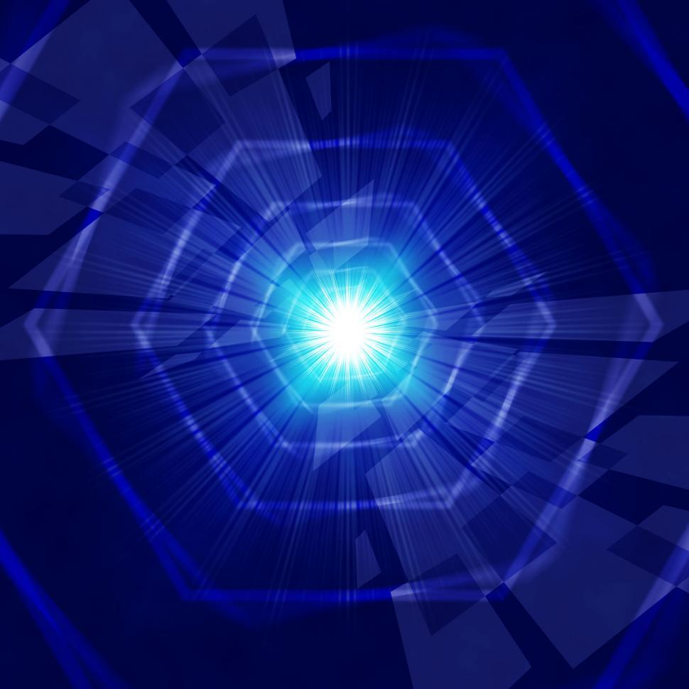 Download Free Stock HD Photo of Blue Light Background Shows Hexagons Beams And Shining  Online