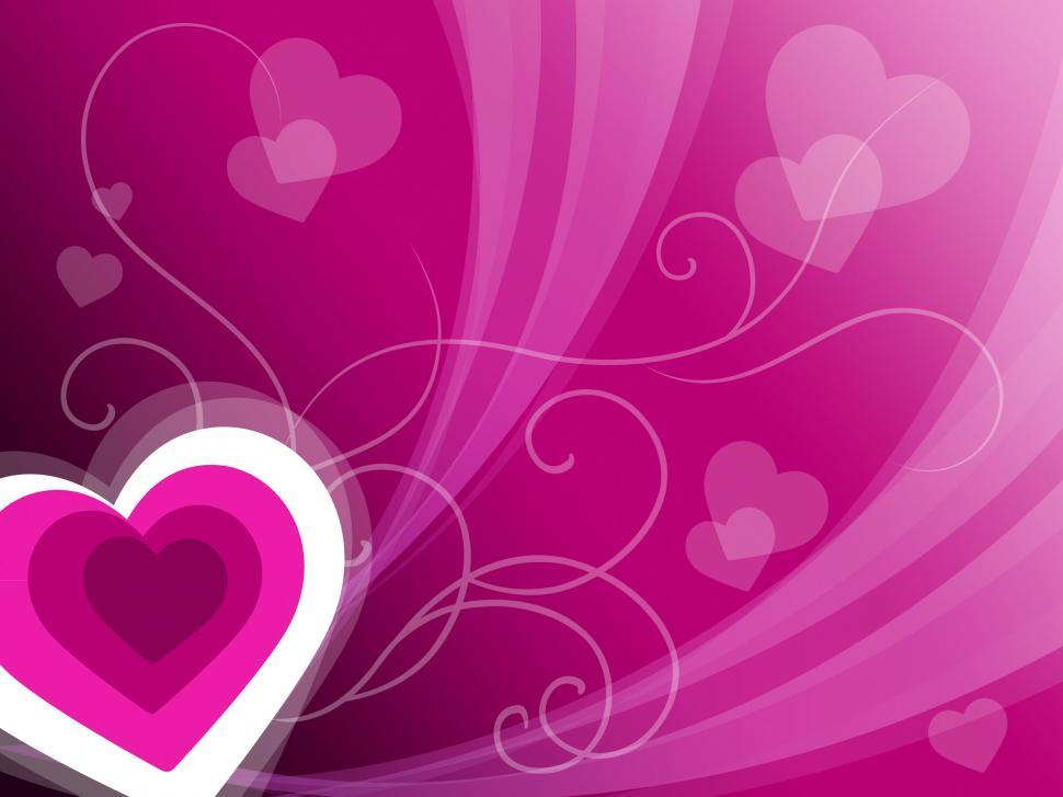 Download Free Stock HD Photo of Hearts Background Means Pink Valentines Or Anniversary Card  Online