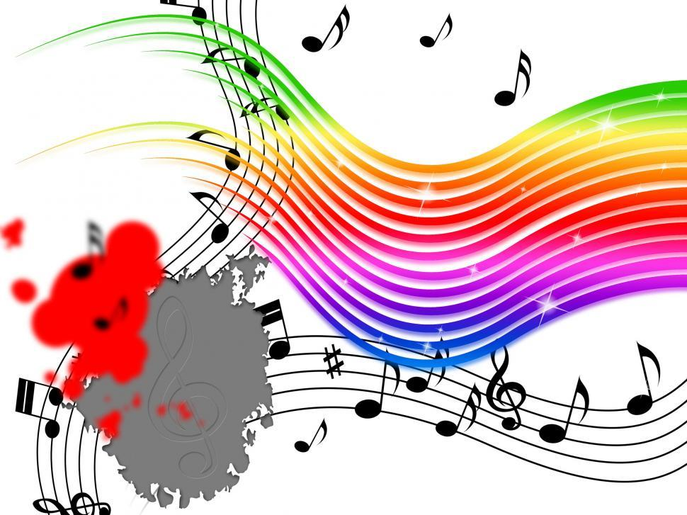 Rainbow Music Background Meaning Colorful Lines And Melody: Get Free Stock Photos Of Rainbow Music Background Means