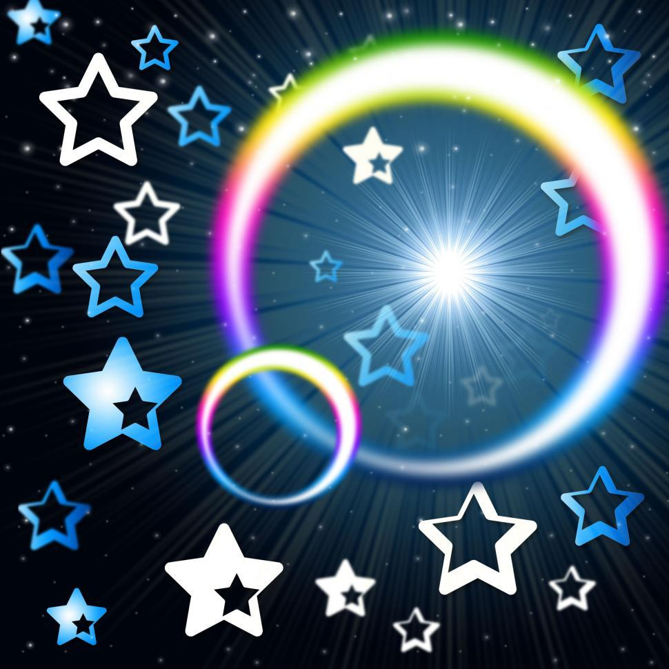 Download Free Stock HD Photo of Rainbow Circles Background Means Glowing Star And Stars  Online