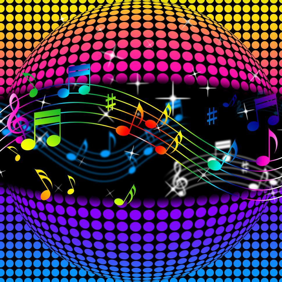 Download Free Stock HD Photo of Music Disco Ball Background Shows Colorful Musical And Clubbing  Online