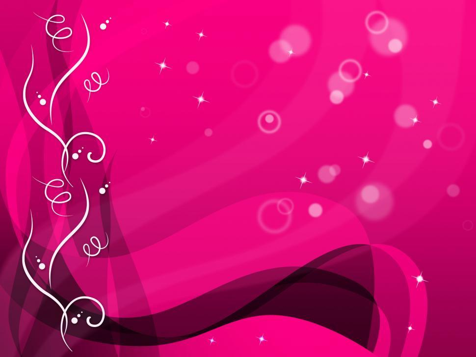 Download Free Stock HD Photo of Pink Floral Background Shows Flower Pattern And Bubbles  Online