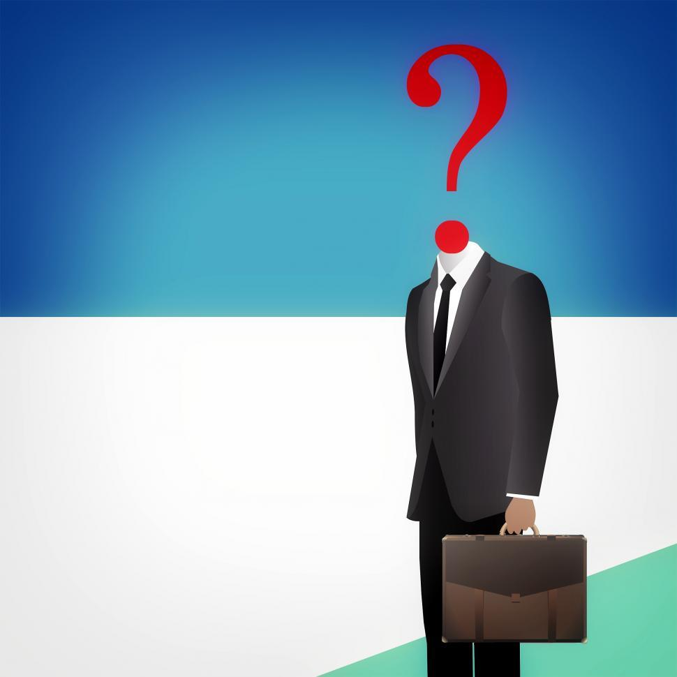 Download Free Stock HD Photo of Where to go from here - Headless businessman with question mark Online