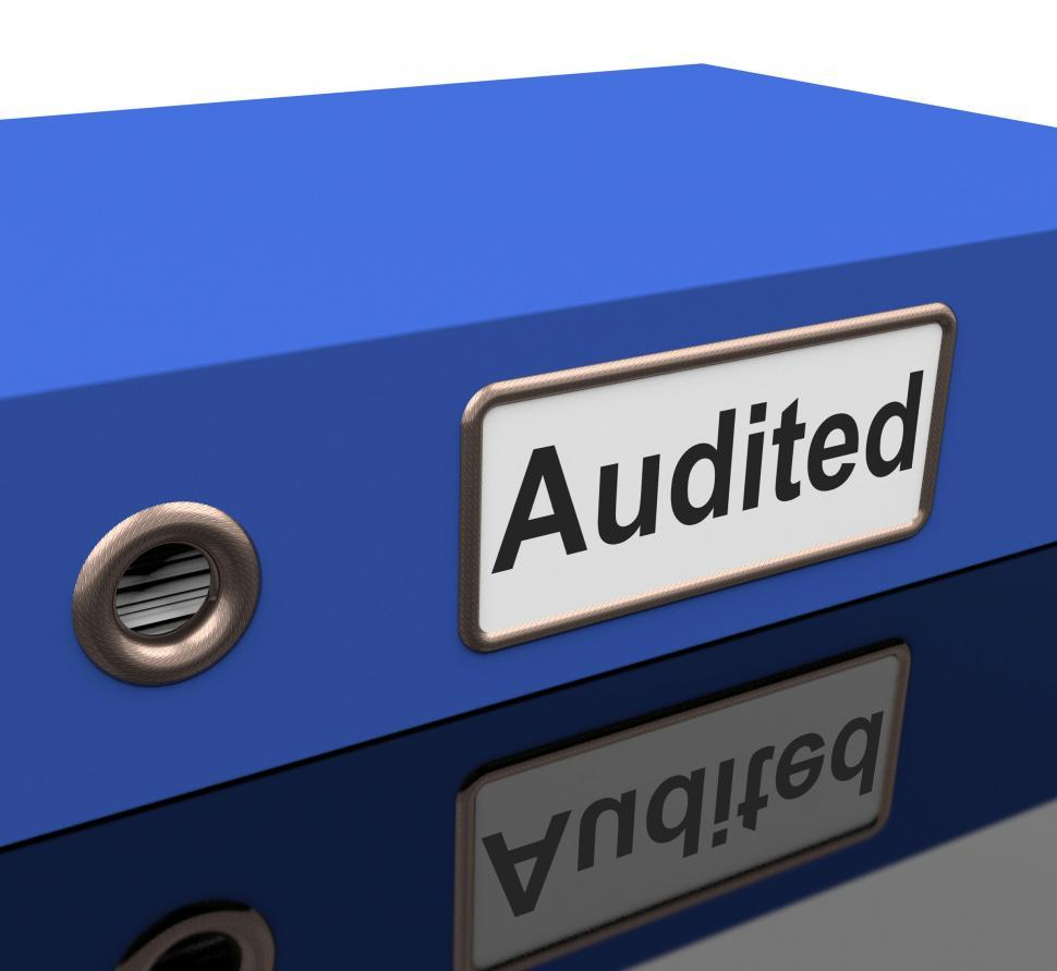 Download Free Stock HD Photo of Audited File Shows Business Scrutiny And Inspect Online
