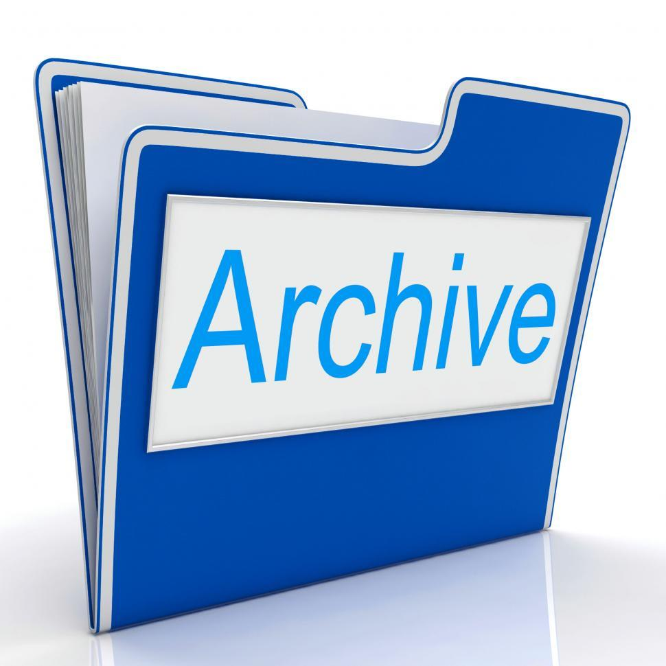 Download Free Stock HD Photo of File Archive Represents Organized Paperwork And Organization Online