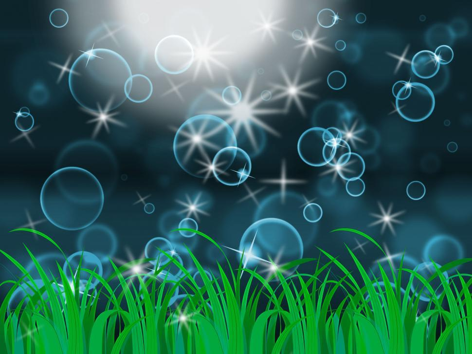 Download Free Stock HD Photo of Glow Bubbles Represents Light Burst And Dazzling Online