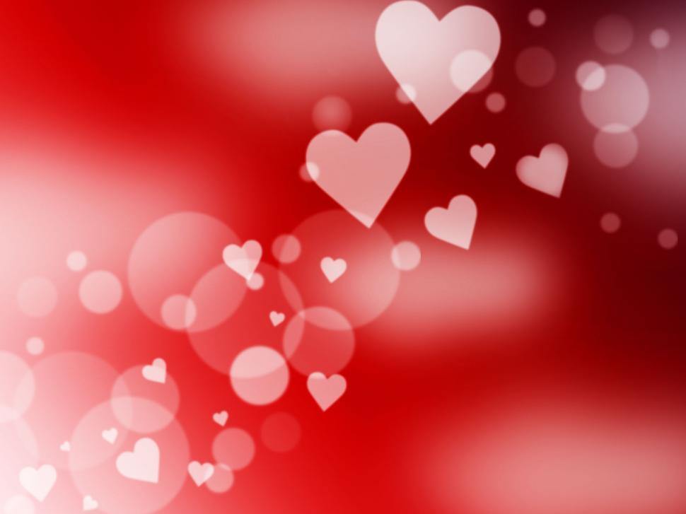 Download Free Stock HD Photo of Hearts Background Represents Light Burst And Abstract Online