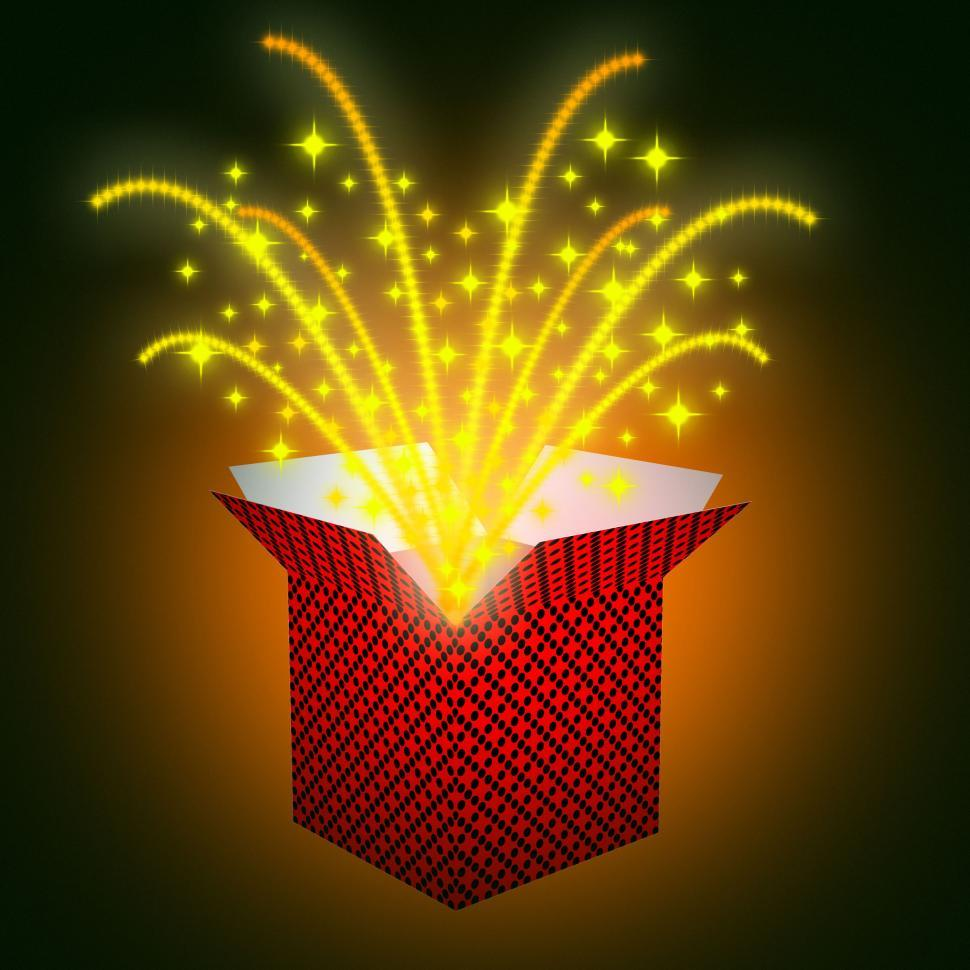 Download Free Stock HD Photo of Giftbox Stars Shows Valentines Day And Celebrate Online