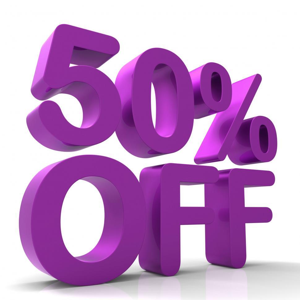 Download Free Stock HD Photo of Fifty Percent Off Indicates Closeout Save And Clearance Online