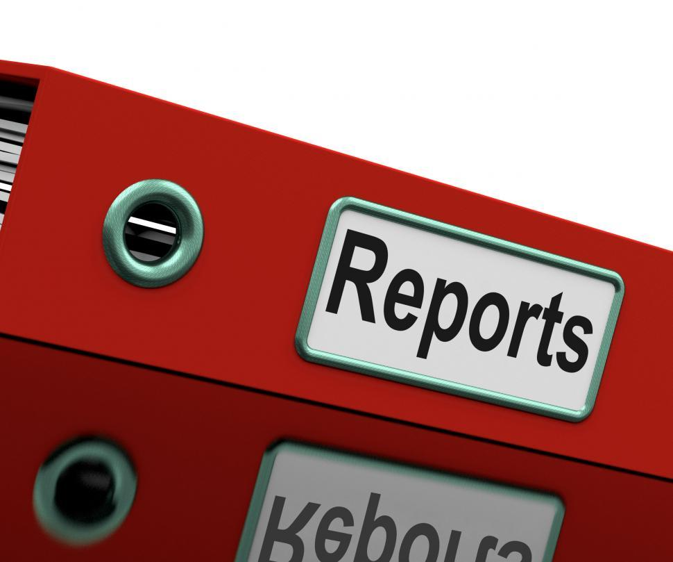 Download Free Stock HD Photo of Report File Represents Document Catalogue And Paperwork Online