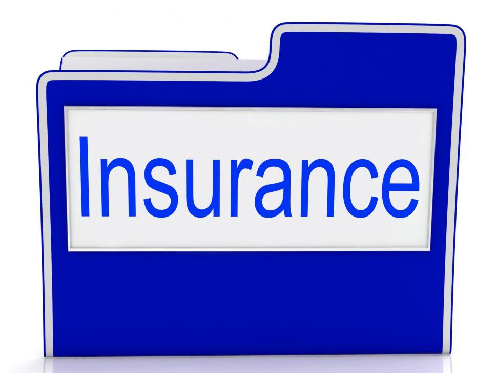 Download Free Stock HD Photo of File Insurance Represents Folders Administration And Insure Online