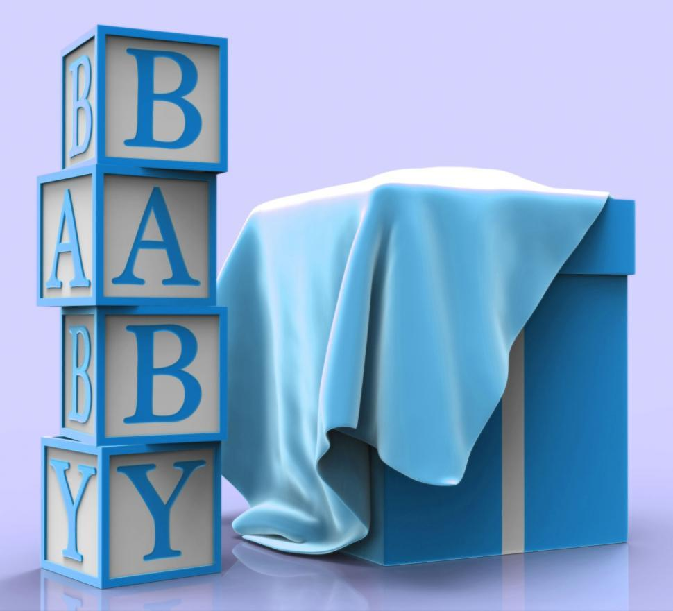 Download Free Stock HD Photo of Baby Giftbox Means Infant Child And Present Online