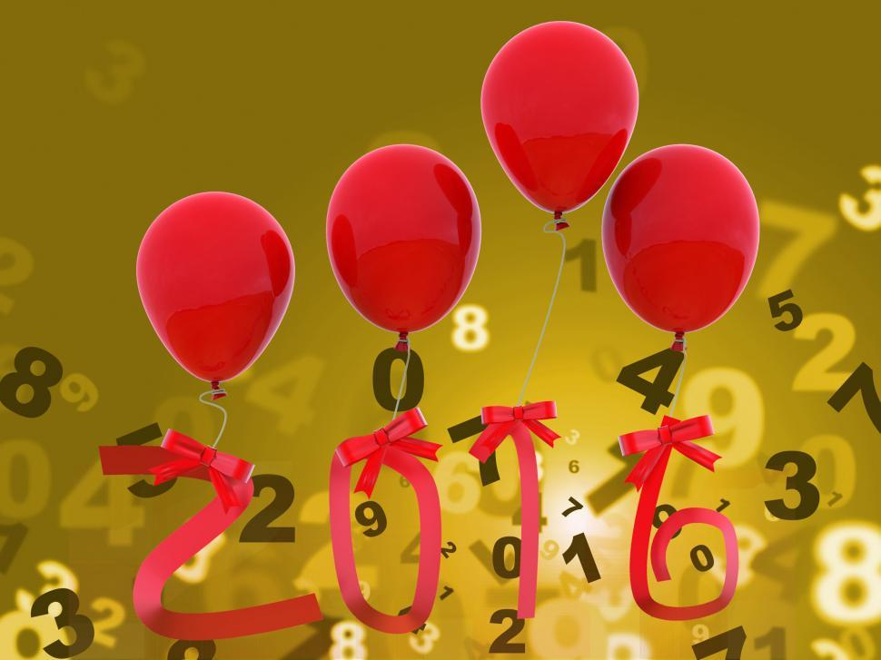 Download Free Stock HD Photo of Twenty Sixteen Indicates Happy New Year And Celebrations Online