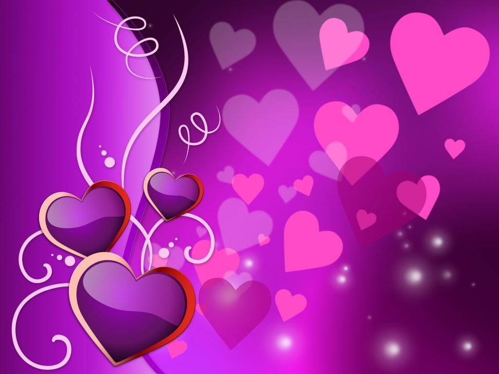 Download Free Stock HD Photo of Background Hearts Represents Valentines Day And Backdrop Online