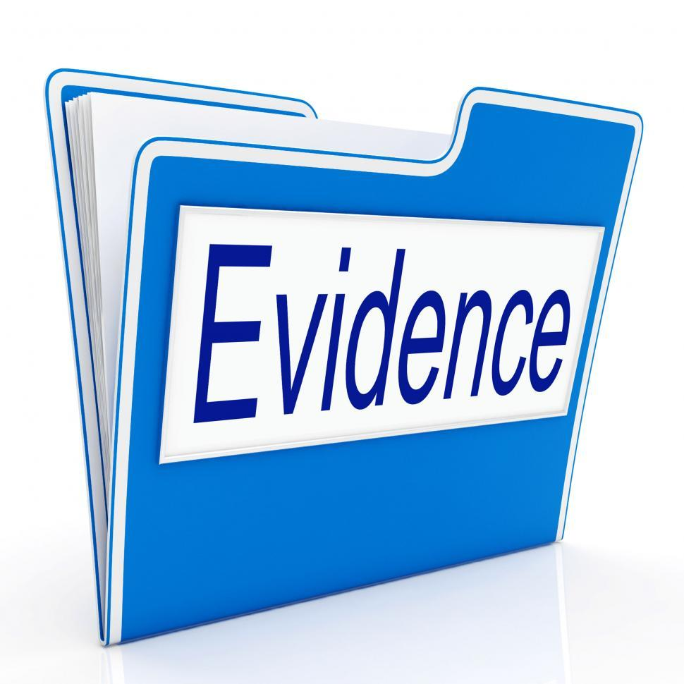 Download Free Stock HD Photo of Evidence File Represents Folders Paperwork And Document Online