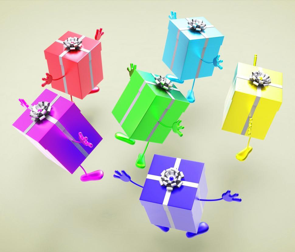 Download Free Stock HD Photo of Celebration Giftboxes Indicates Present Wrapped And Fun Online