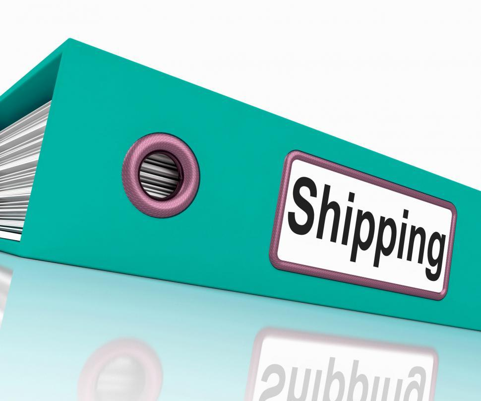 Download Free Stock HD Photo of Shipping File Means Files Document And Organize Online