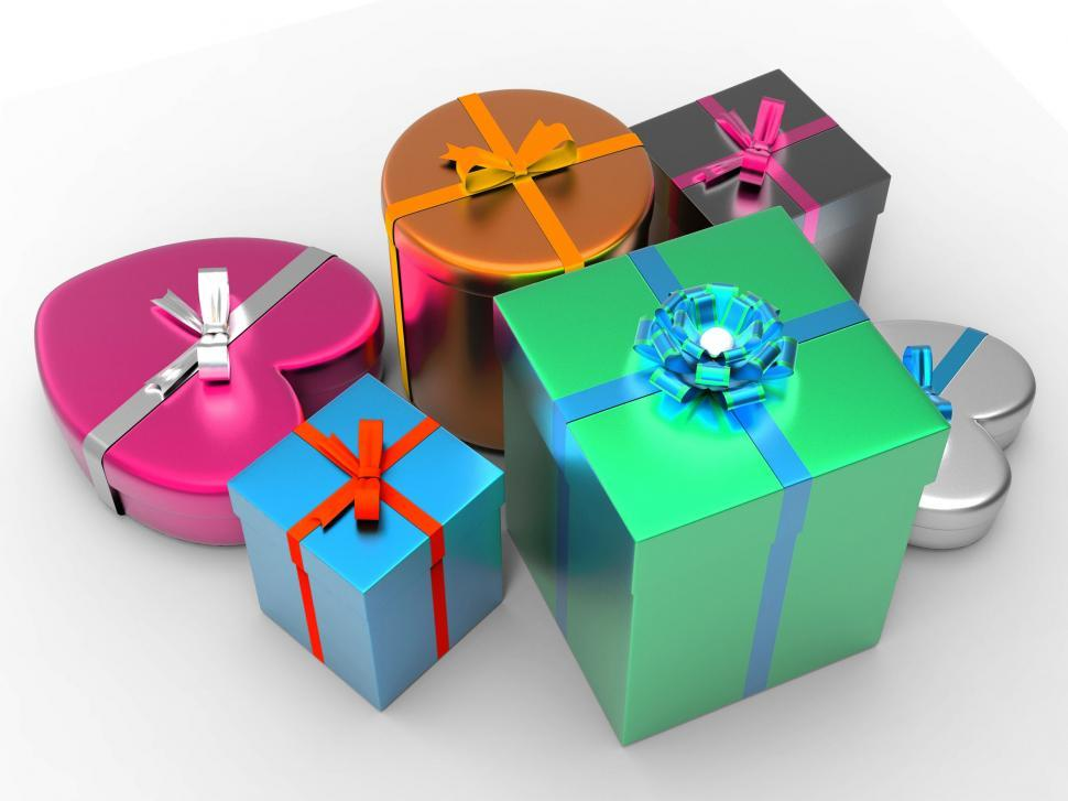 Download Free Stock HD Photo of Giftbox Giftboxes Indicates Celebrate Celebration And Party Online