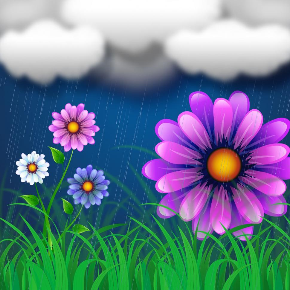 Download Free Stock HD Photo of Flowers Background Indicates Clothes Line And Abstract Online