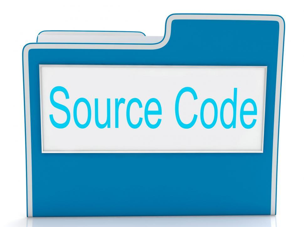 Download Free Stock HD Photo of Source Code Shows Document Binder And Folders Online