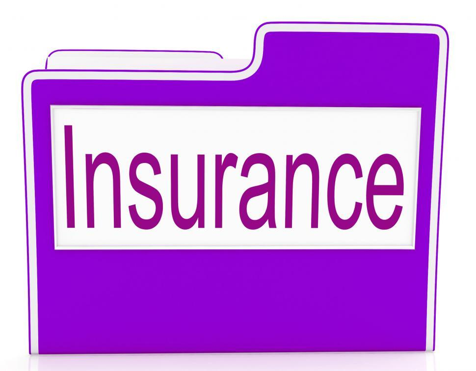 Download Free Stock HD Photo of File Insurance Means Policy Protection And Organized Online