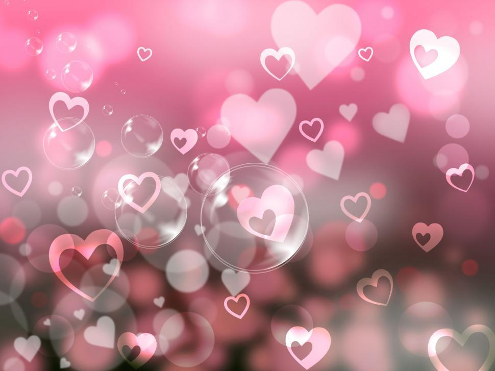 Download Free Stock HD Photo of Glow Background Indicates Valentines Day And Affection Online