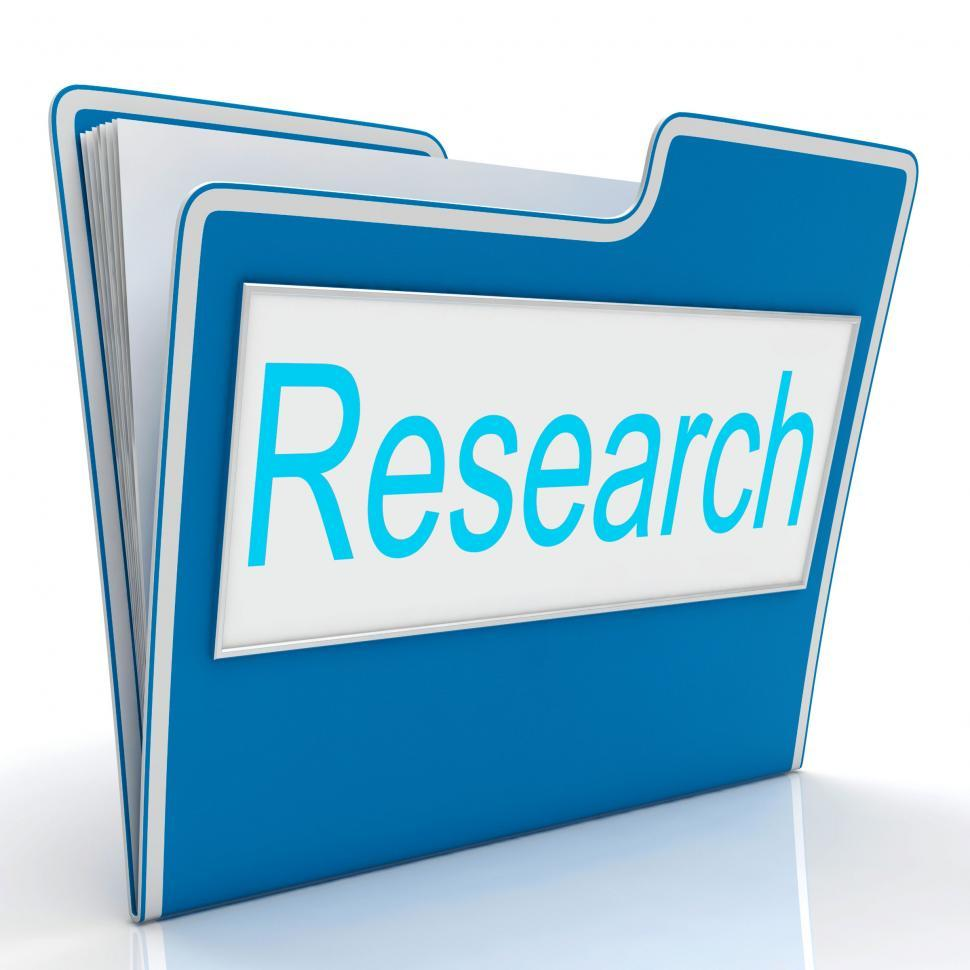Download Free Stock HD Photo of Research File Indicates Gathering Data And Studies Online