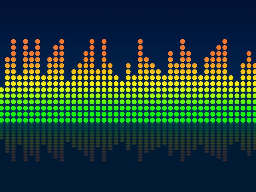 Download Free Stock HD Photo of Equaliser Background Indicates Text Space And Acoustic Online