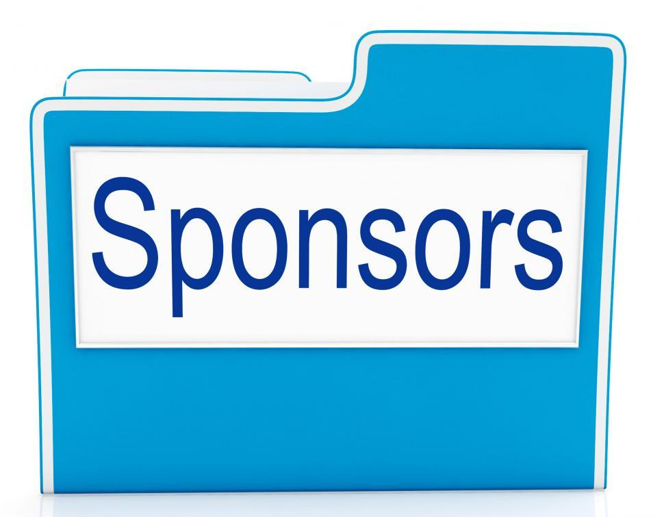 Download Free Stock HD Photo of File Sponsors Represents Promotes Supporter And Promoter Online