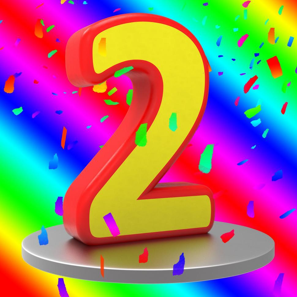 Get Free Stock Photos Of Second Birthday Means Happy Anniversary And
