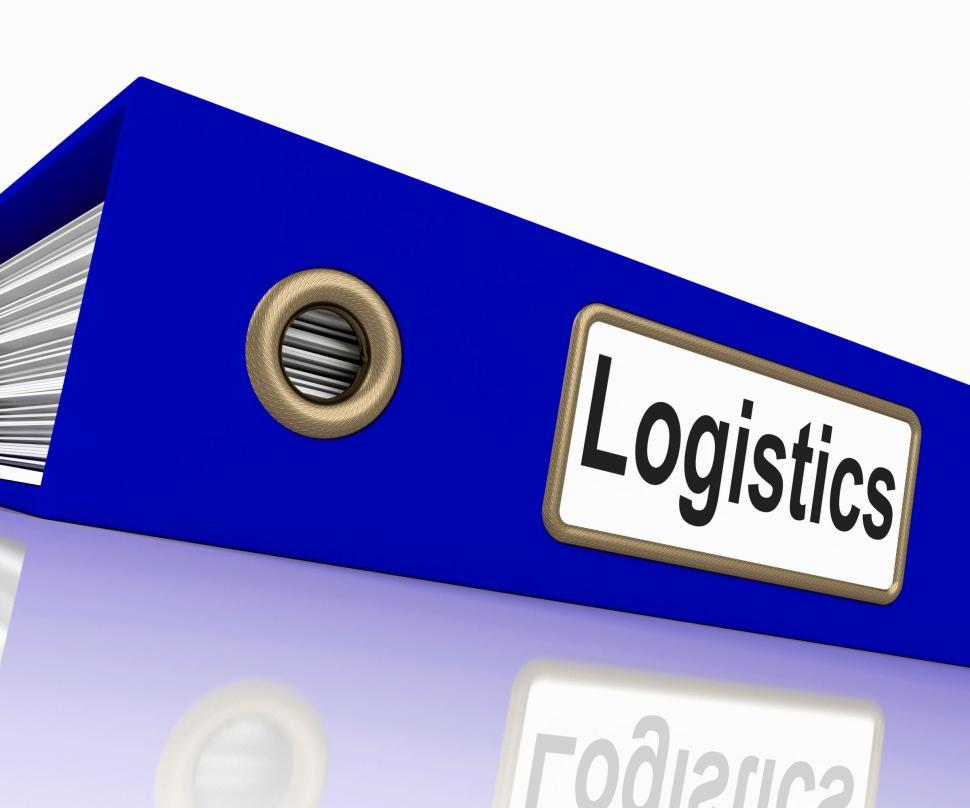 Download Free Stock HD Photo of Logistics File Shows Correspondence Folders And Systematic Online