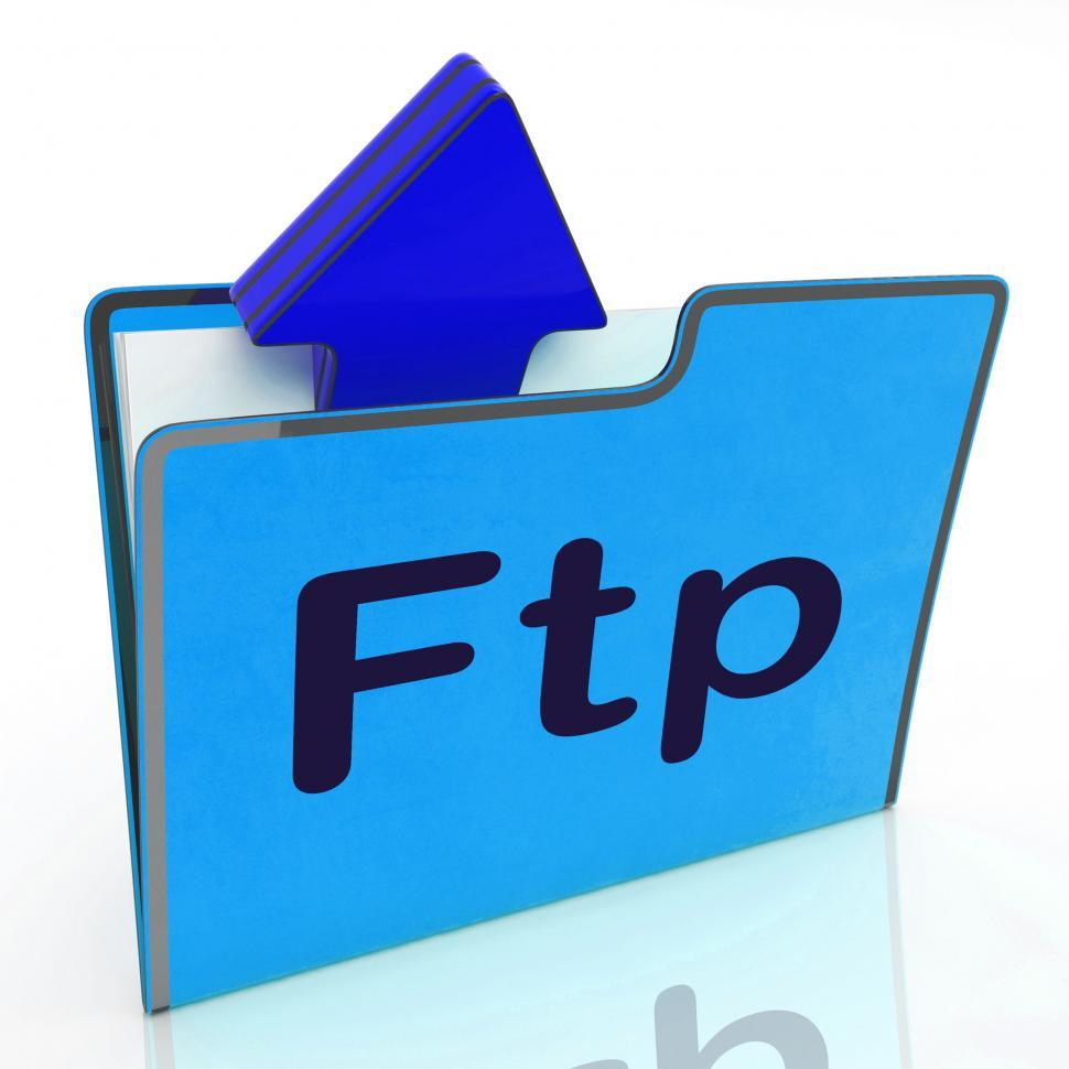 Download Free Stock HD Photo of Ftp File Represents Transfer Files And Binder Online
