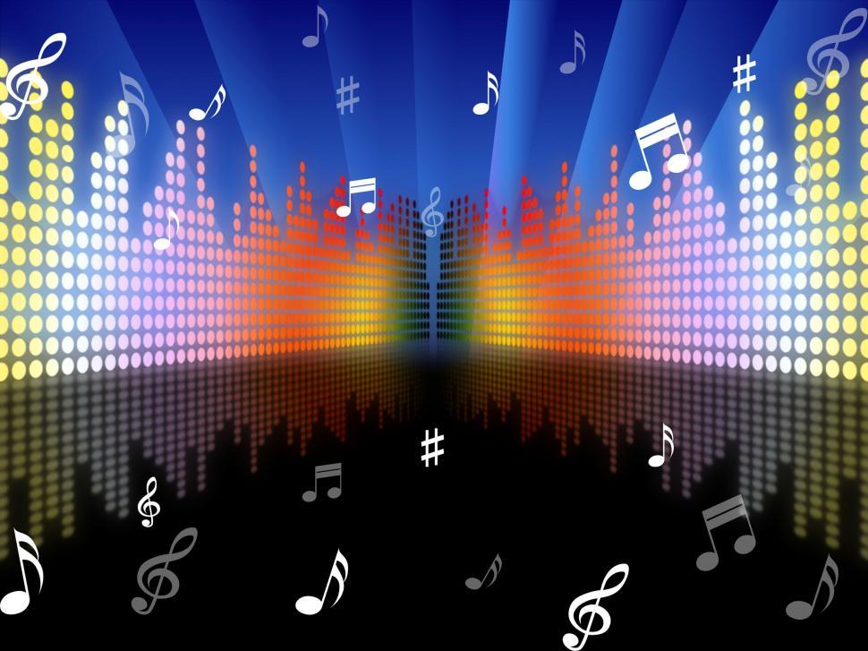 Download Free Stock HD Photo of Background Music Represents Sound Track And Abstract Online