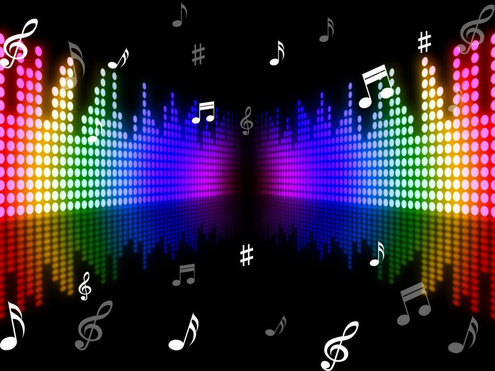 Download Free Stock HD Photo of Background Music Means Sound Track And Melody Online