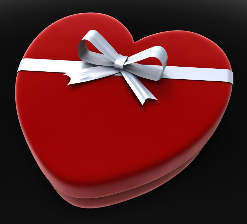 Download Free Stock HD Photo of Heart Gift Represents Valentine Day And Box Online