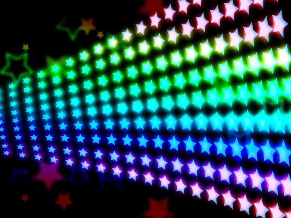 Download Free Stock HD Photo of Glow Stars Shows Light Burst And Abstract Online