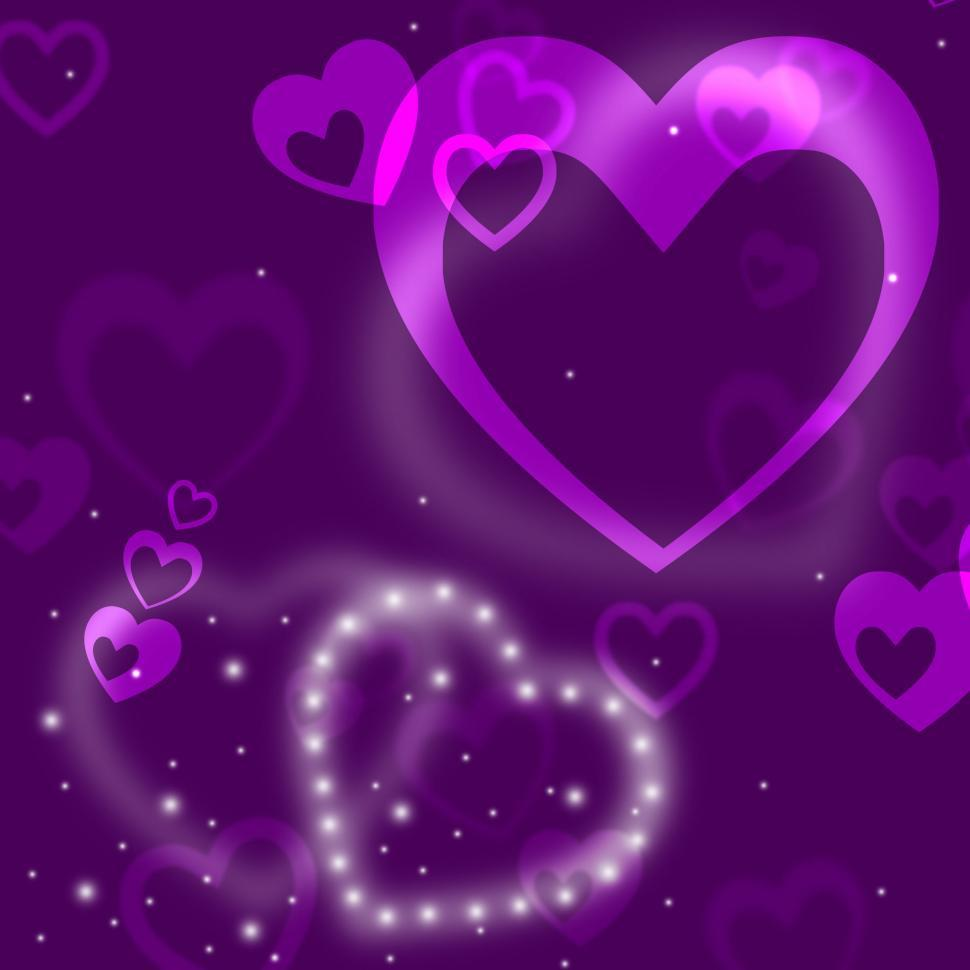 Download Free Stock HD Photo of Glow Heart Means Valentine Day And Abstract Online