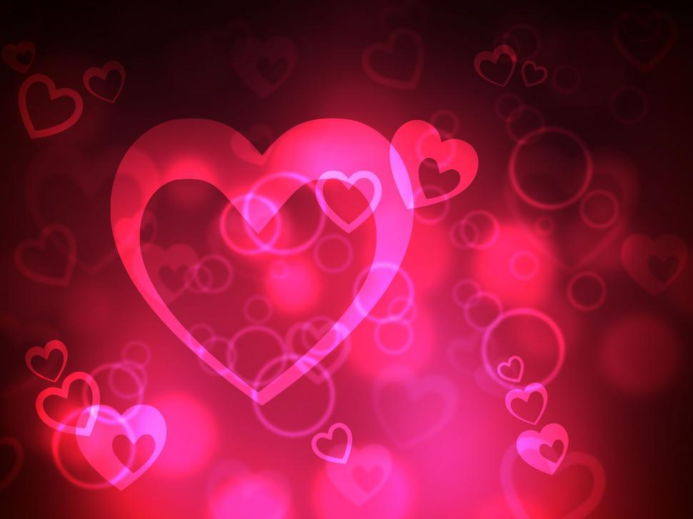 Download Free Stock HD Photo of Heart Background Represents Valentine Day And Backdrop Online