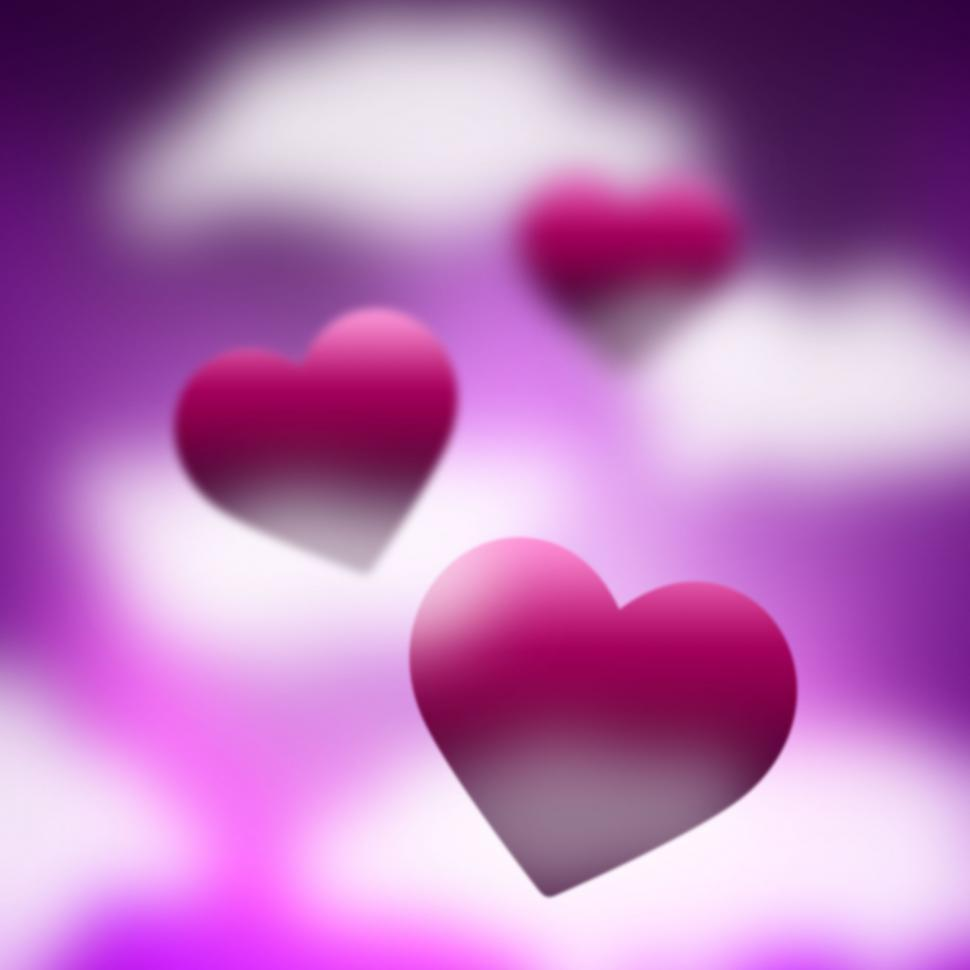 Download Free Stock HD Photo of Heaven Background Means Valentines Day And Backdrop Online