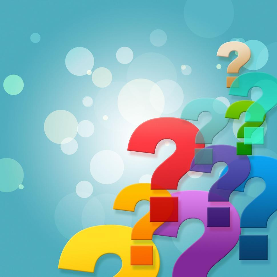 Download Free Stock HD Photo of Question Marks Shows Frequently Asked Questions And Asking Online