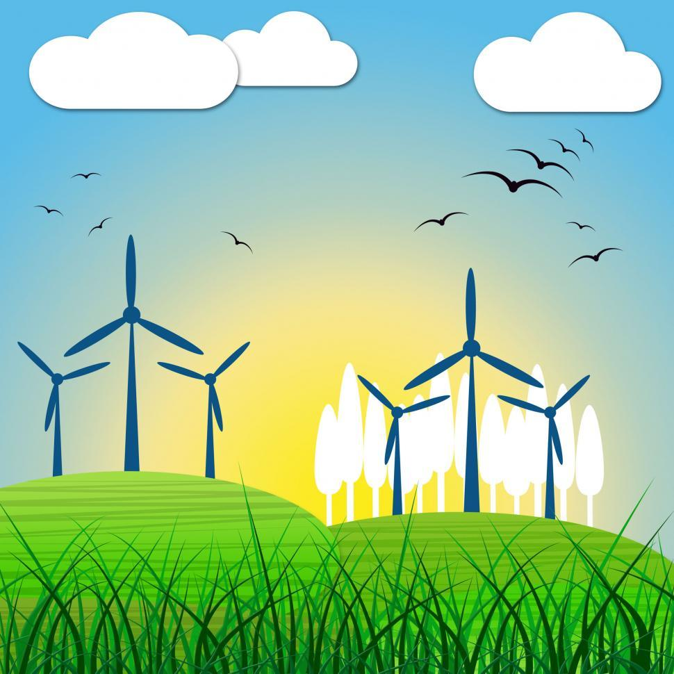 Download Free Stock HD Photo of Wind Power Shows Renewable Resource And Environmental Online