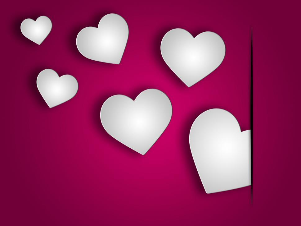 Download Free Stock HD Photo of Background Hearts Indicates Valentine Day And Abstract Online