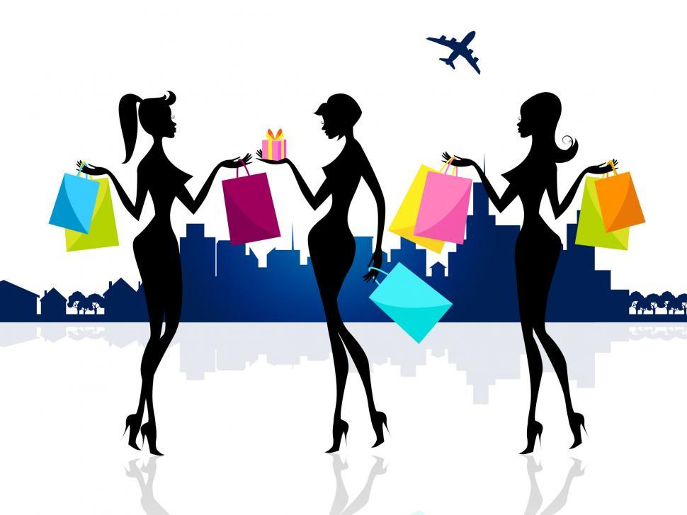Download Free Stock HD Photo of Shopping Shopper Shows Retail Sales And Adults Online