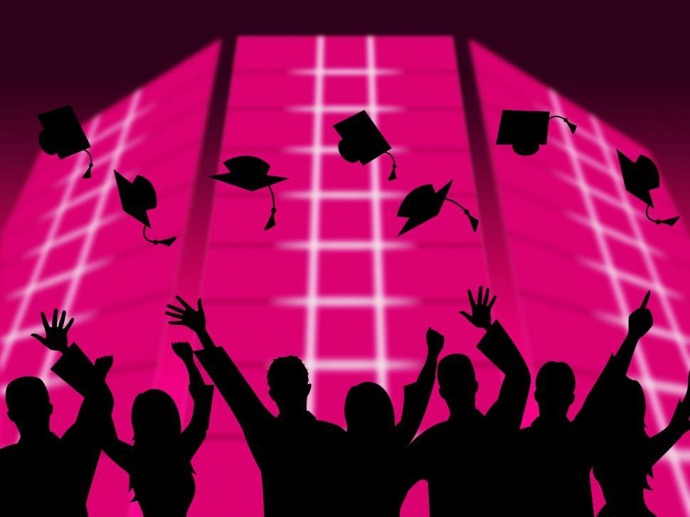 Download Free Stock HD Photo of Education Graduation Shows Educating Graduates And Graduate Online