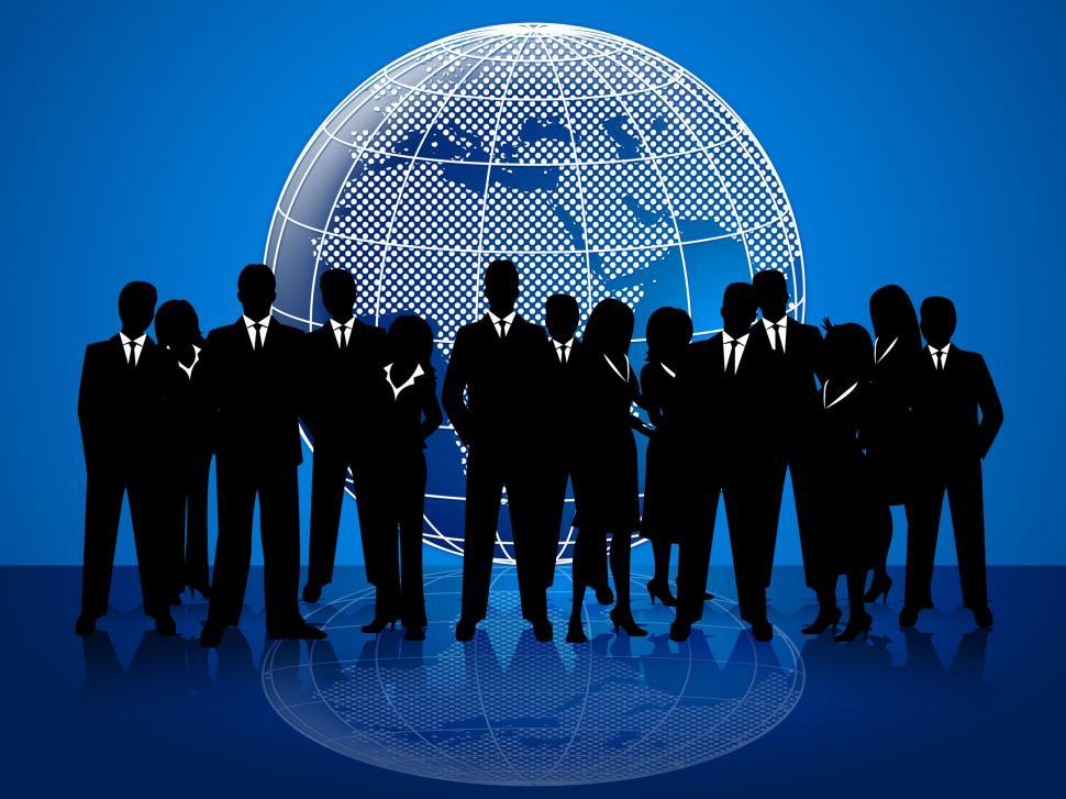 Download Free Stock HD Photo of Business People Means Cooperation Globalize And Coworkers Online