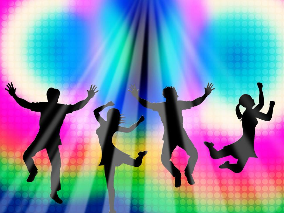 Download Free Stock HD Photo of Colorful Jumping Means Friends Vibrant And Multicolored Online