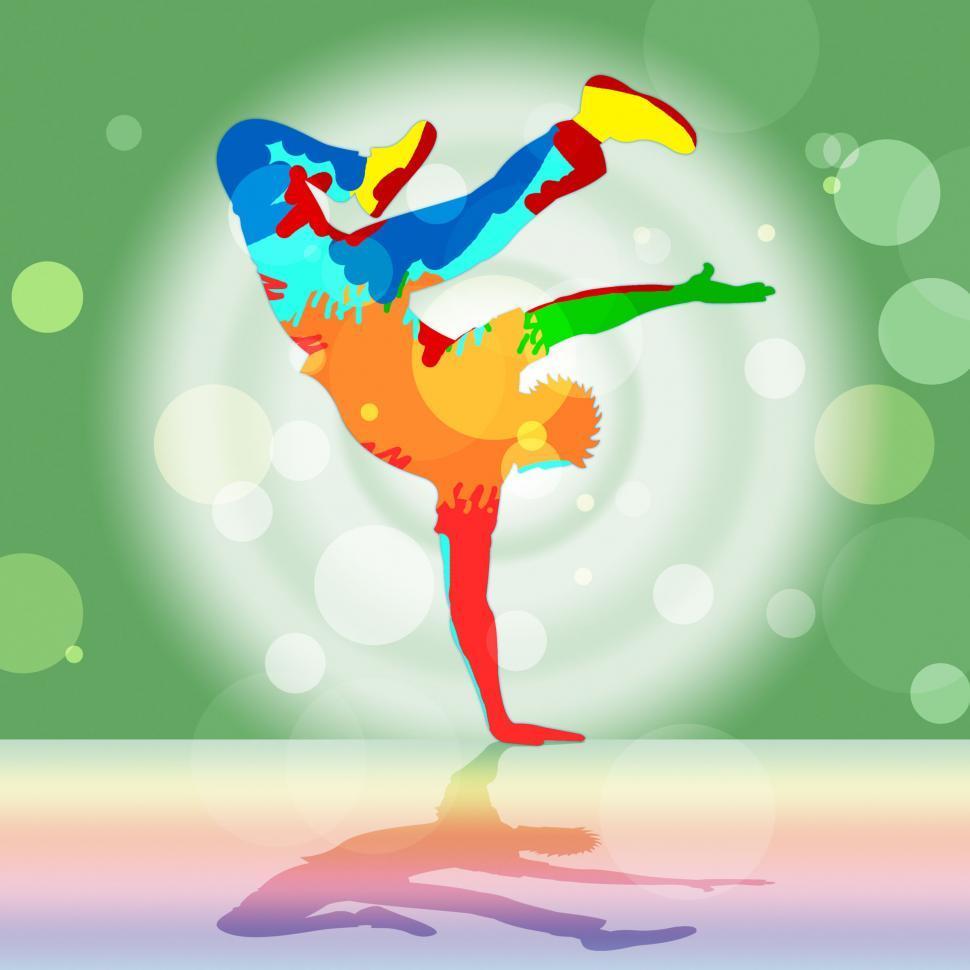 Download Free Stock HD Photo of Break Dancing Represents Disco Music And Dance Online